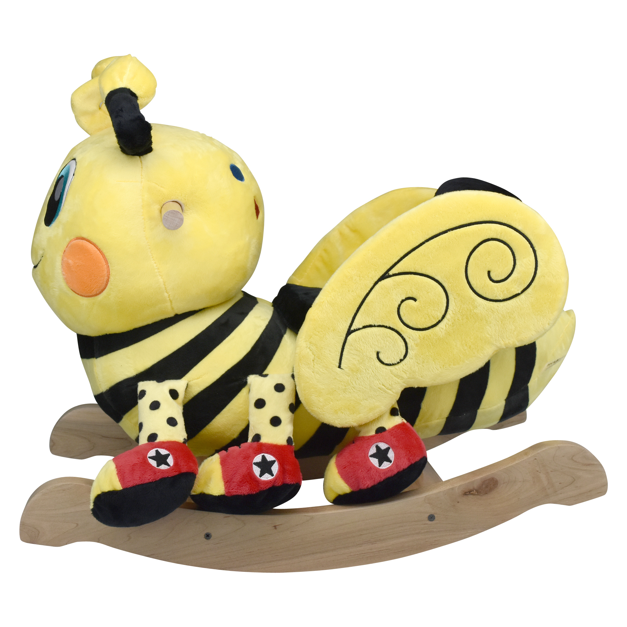 Buzzy Bee Rockabye Baby Rocker back