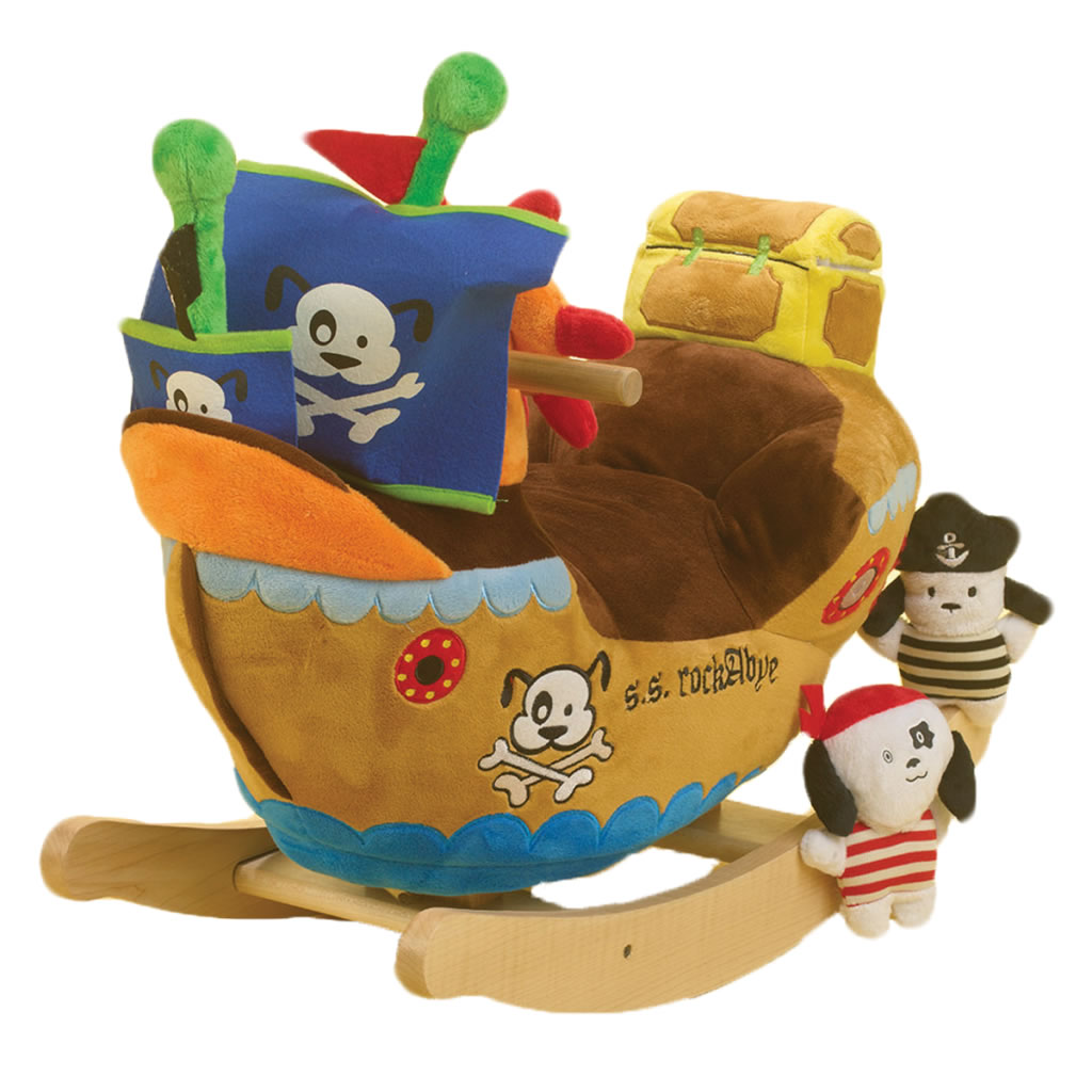 Ahoy Pirate Ship Rockabye Baby Rocker