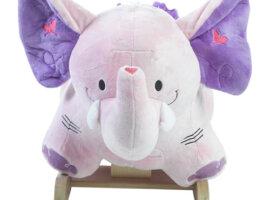 Bella the Pink Elephant baby rocker
